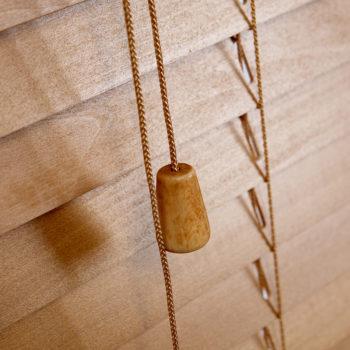 SLX Wood Blind - 35mm Sugar Maple Blind with Strings 3